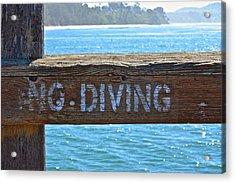 No Diving Acrylic Print