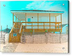 No Entry Lifeguards Only Acrylic Print by Gary Keesler