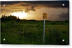 Acrylic Print featuring the photograph No Exit by Trever Miller