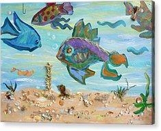 No Fishing Acrylic Print by Brenda Ruark