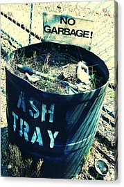 Acrylic Print featuring the photograph Ash Tray Steel Drum by Laurie Tsemak