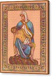 No Greater Love - Jesus And Mary  Acrylic Print by Ray Tapajna
