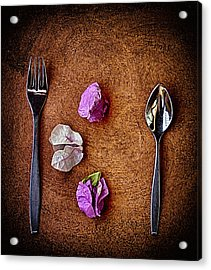 Acrylic Print featuring the photograph No Knife ... by Chuck Caramella