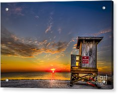 No Life Guard On Duty Acrylic Print by Marvin Spates