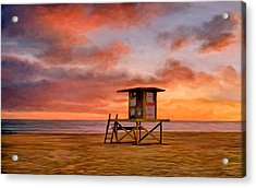 No Lifeguard On Duty At The Wedge Acrylic Print