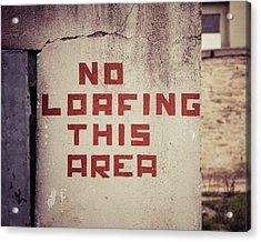 No Loafing Acrylic Print by Takeshi Okada