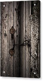 No Lock Acrylic Print by Liz  Alderdice