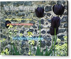 No More Worrying Acrylic Print