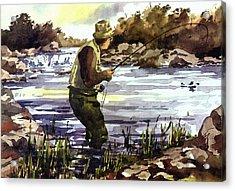 Mayo  Fishing The Moy Acrylic Print