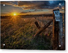No Pass II Acrylic Print by Peter Tellone