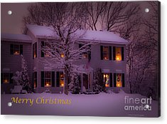 No Place Like Home Christmas Card Acrylic Print by Wayne Moran