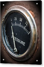 Acrylic Print featuring the photograph No Pressure by Rhys Arithson