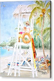 No Problem In Jamaica Mon Acrylic Print by Marilyn Zalatan
