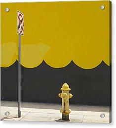 No Right Turn Acrylic Print
