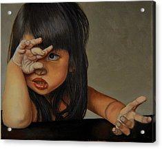 No Acrylic Print by Thu Nguyen