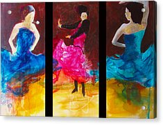 Acrylic Print featuring the painting No Volre  Triptych by Keith Thue