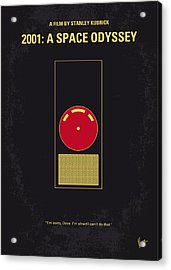 No003 My 2001 A Space Odyssey 2000 Minimal Movie Poster Acrylic Print