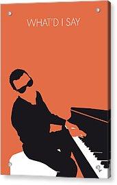 No003 My Ray Charles Minimal Music Poster Acrylic Print by Chungkong Art