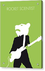 No006 My Teddy Bears Minimal Music Poster Acrylic Print