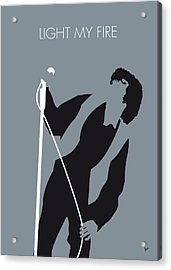 No007 My The Doors Minimal Music Poster Acrylic Print by Chungkong Art