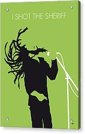 No016 My Bob Marley Minimal Music Poster Acrylic Print by Chungkong Art