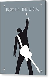 No017 My Bruce Springsteen Minimal Music Poster Acrylic Print by Chungkong Art