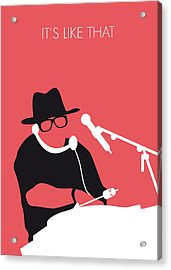 No022 My Run Dmc Minimal Music Poster Acrylic Print by Chungkong Art
