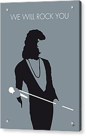No027 My Queen Minimal Music Poster Acrylic Print