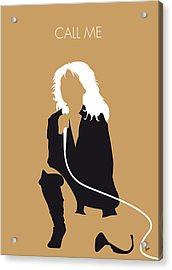 No030 My Blondie Minimal Music Poster Acrylic Print by Chungkong Art