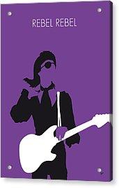 No031 My Bowie Minimal Music Poster Acrylic Print by Chungkong Art