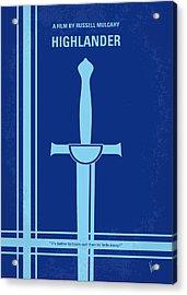 No034 My Highlander Minimal Movie Poster.jpg Acrylic Print