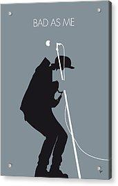 No037 My Tom Waits Minimal Music Poster Acrylic Print by Chungkong Art