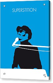 No039 My Stevie Wonder Minimal Music Poster Acrylic Print by Chungkong Art