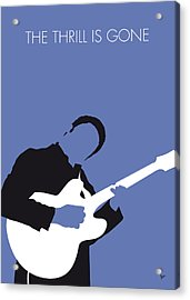 No048 My Bb King Minimal Music Poster Acrylic Print by Chungkong Art