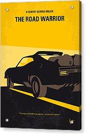 No051 My Mad Max 2 Road Warrior Minimal Movie Poster Acrylic Print by Chungkong Art
