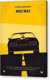 No051 My Mad Max Minimal Movie Poster Acrylic Print by Chungkong Art