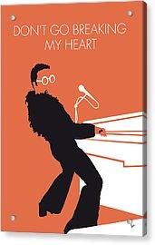 No053 My Elton John Minimal Music Poster Acrylic Print by Chungkong Art