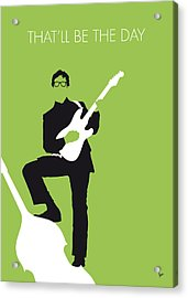 No056 My Buddy Holly Minimal Music Poster Acrylic Print by Chungkong Art