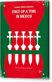 No058 My Once Upon A Time In Mexico Minimal Movie Poster Acrylic Print