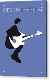 No058 My The Police Minimal Music Poster Acrylic Print by Chungkong Art
