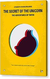 No096 My Tintin-3d Minimal Movie Poster Acrylic Print by Chungkong Art