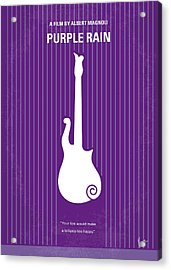 No124 My Purple Rain Minimal Movie Poster Acrylic Print by Chungkong Art