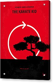 No125 My Karate Kid Minimal Movie Poster Acrylic Print by Chungkong Art