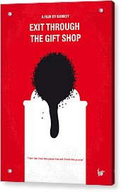 No130 My Exit Through The Gift Shop Minimal Movie Poster Acrylic Print