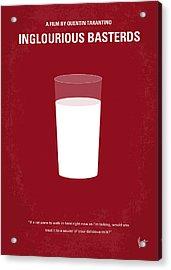 No138 My Inglourious Basterds Minimal Movie Poster Acrylic Print