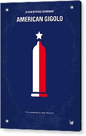 No150 My American Gigolo Minimal Movie Poster Acrylic Print