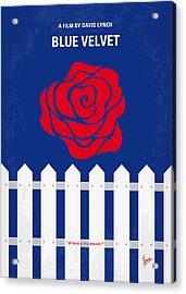 No170 My Blue Velvet Minimal Movie Poster Acrylic Print