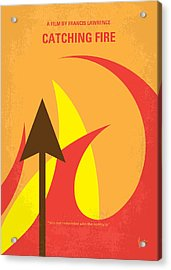 No175-2 My Catching Fire - The Hunger Games Minimal Movie Poster Acrylic Print by Chungkong Art