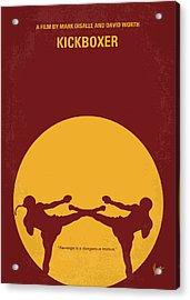 No178 My Kickboxer Minimal Movie Poster Acrylic Print by Chungkong Art