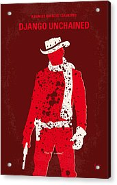No184 My Django Unchained Minimal Movie Poster Acrylic Print by Chungkong Art